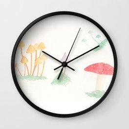Whimsical Mushrooms Wall Clock