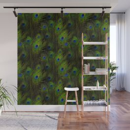 Peacock Feather Plummage Wall Mural