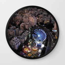 Twilight at Enaerios Limassol Wall Clock