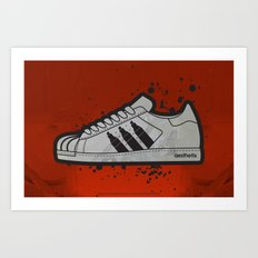 Aesthetix 3 Pens Superstar (Safety Orange) Art Print