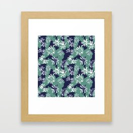 Abstract Inky Sunflowers Framed Art Print