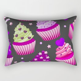 purple pink cupcakes Rectangular Pillow