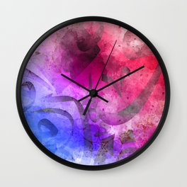Arabic Calligraphy Art Painting Wall Clock