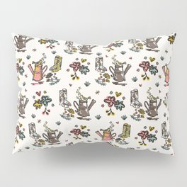 Cute Trendy Gardening Nature Flowers Watering Can Pillow Sham