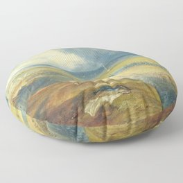 """J.M.W. Turner """"Great Yarmouth, Norfolk, with Nelson's Column"""" Floor Pillow"""