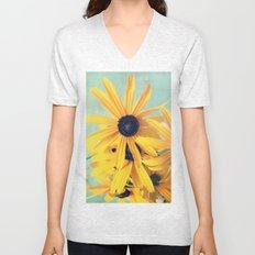 Sweet Yellow Flowers Unisex V-Neck