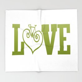 LOVE CYCLING Throw Blanket