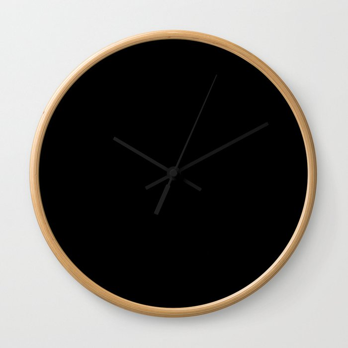 #000000 PURE BLACK Wall Clock