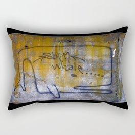 lichen whale Rectangular Pillow
