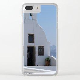 Santorini Postcard Perfect Clear iPhone Case