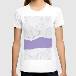 Elegant violet gray white modern marble pattern T-shirt