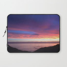 Purple and Pink Summer Beach Sunset Laptop Sleeve