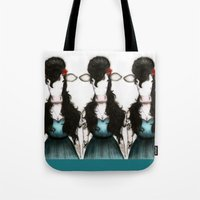 amy hamilton Tote Bags featuring Amy by J. Neto