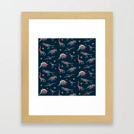 Dinos In Sweaters Framed Art Print