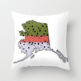 Alaska Rainbow Trout Throw Pillow