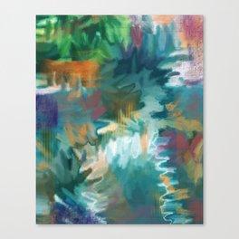 FEEL THE BUZZ: Aqua Canvas Print