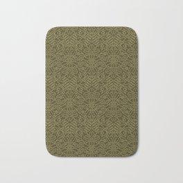 Floral leaf paisley motif running stitch style Bath Mat