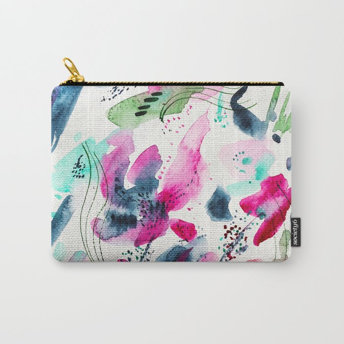 Floral abstraction #2 || watercolor Carry-All Pouch