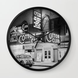 African American Harlem Renaissance Cotton Club Jazz Age Photograph Wall Clock
