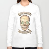 forever young Long Sleeve T-shirts featuring Forever young by Glutamat Studio