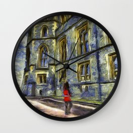 Windsor Castle Coldstream Guard Art Wall Clock