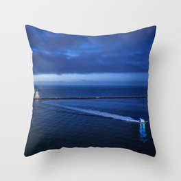 Coming into the Harbor at Dawn Throw Pillow