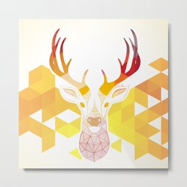 Colored Deer  Metal Print