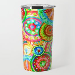 Vibrant Floral Design Travel Mug