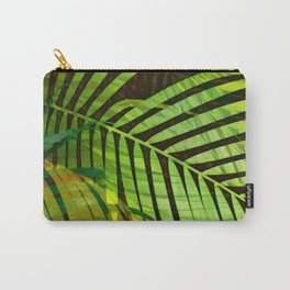 TROPICAL GREENERY LEAVES no1b Carry-All Pouch