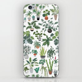 plants and pots pattern iPhone Skin