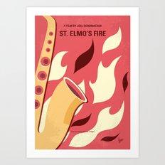 No657 My St Elmos Fire minimal movie poster Art Print