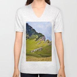 Mountain sheep trail Unisex V-Neck