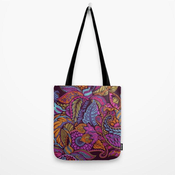 Paisley Dreams - sunset colors Tote Bag