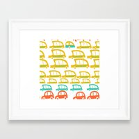 cars Framed Art Prints featuring cars by mummysam