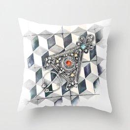 Moroccan Berber fibula Throw Pillow