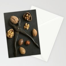 Mixed nuts and vintage wrench. Stationery Cards