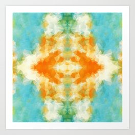 """Poncho mood"" triangles design Art Print"