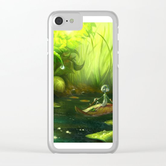 Solitude Through the Leaves Clear iPhone Case