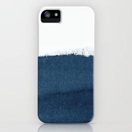Indigo Art / Minimal Navy Print iPhone Case