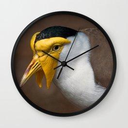 Masked Lapwing Wall Clock