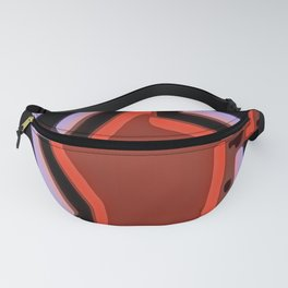 Bold Red Black Violet Abstract Fanny Pack