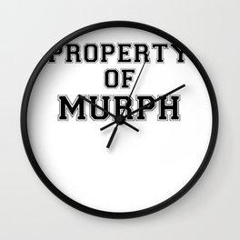 Property of MURPH Wall Clock