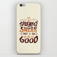 risa rodil iPhone & iPod Skins featuring I am up to no good by Risa Rodil