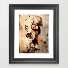 Portrait of a Distracted Man Framed Art Print