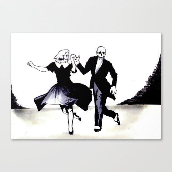 Skeleton Swing Canvas Print