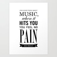 The good thing about Music Art Print