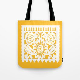 OLE Papel Picado - square pillow - yellow Tote Bag
