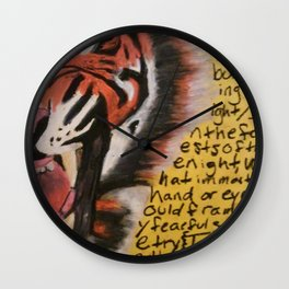 The Tyger  Wall Clock