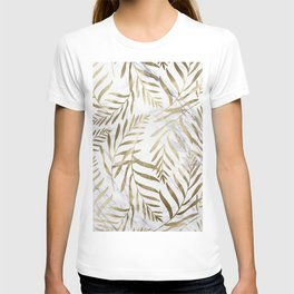 Gold and Marble Leaves T-shirt