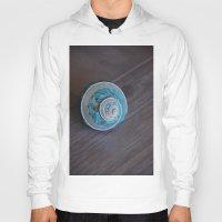 seashell Hoodies featuring Blue Seashell by Kelly Stiles